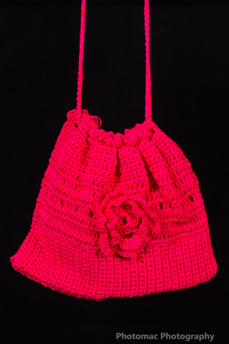 Reddy pink flower bag