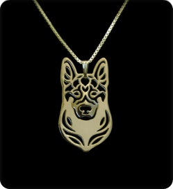 GSD003 GERMAN SHEPHERD CUTOUT FACE - SPECIAL PRICE