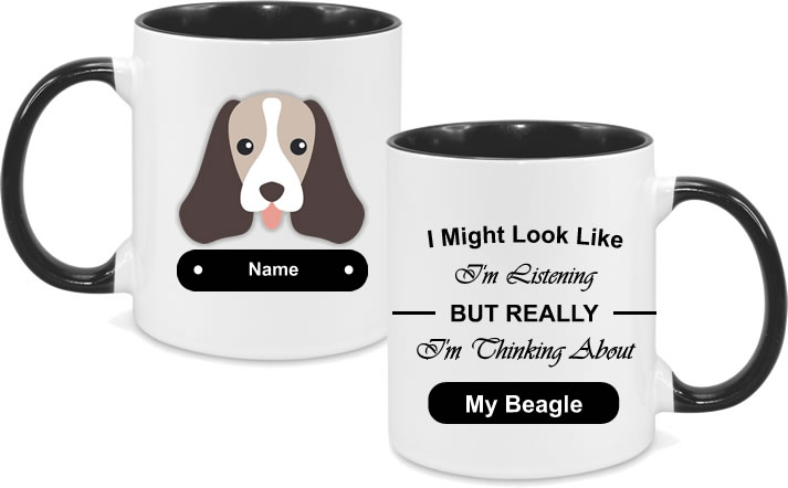 Beagle Face with text