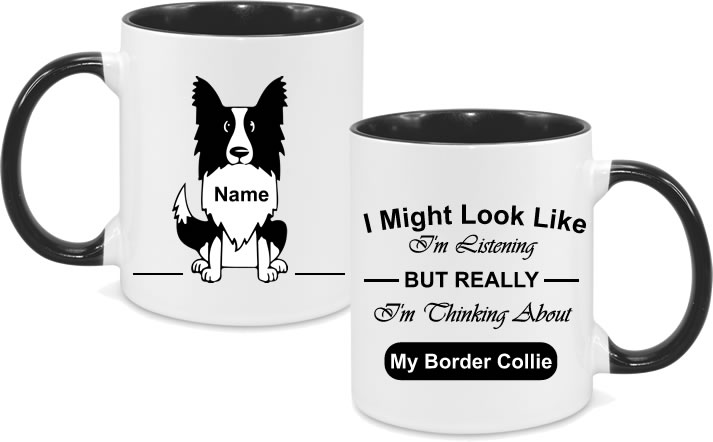 Border Collie Full Body with text and name in chest