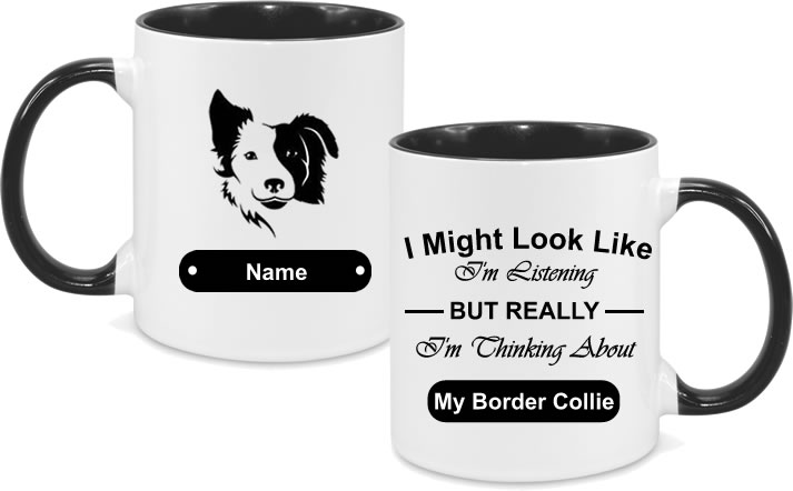 Border Collie Design with text