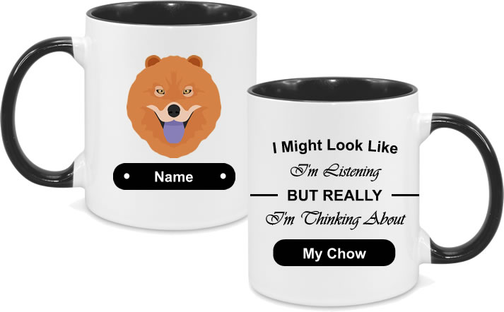 Chow Chow Face with text