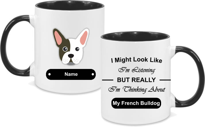 French Bulldog Face with text