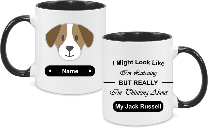 Jack Russel Face with text