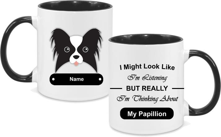 Papillion Face with text