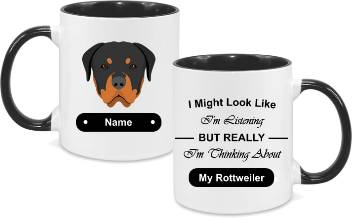 Rottweiler Face with text
