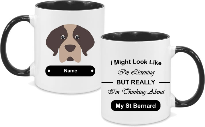 St Bernard Face with text