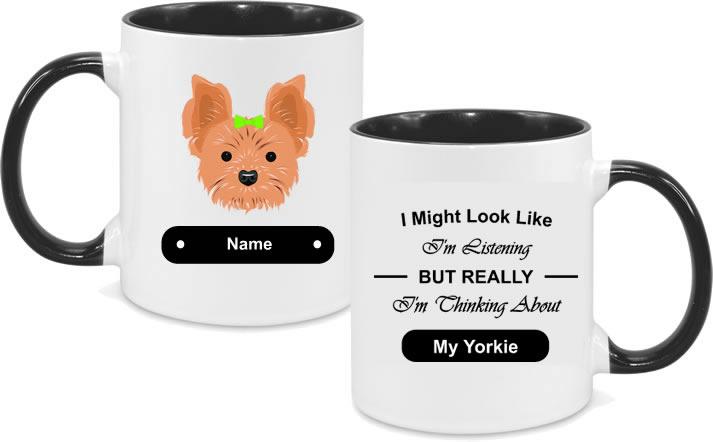 Yorkie Face Light Brown with text