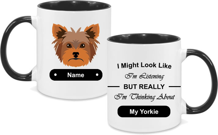 Yorkie Face Dark Brown with text