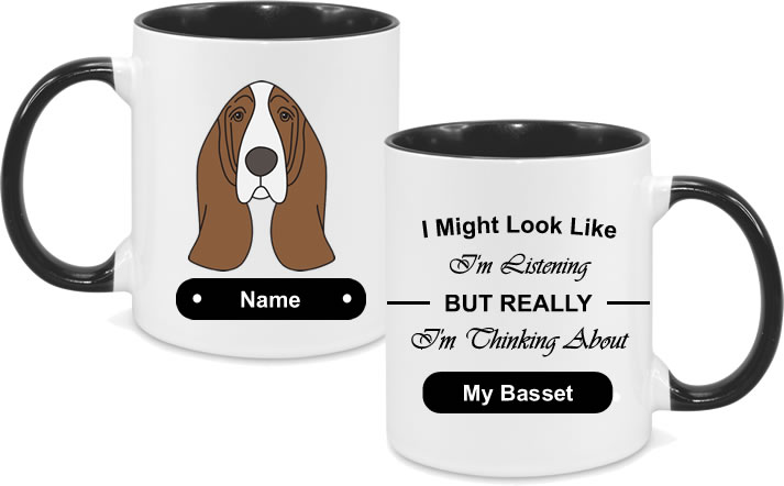 Basset Face drawn with text