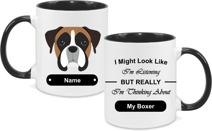 Boxer Face with text