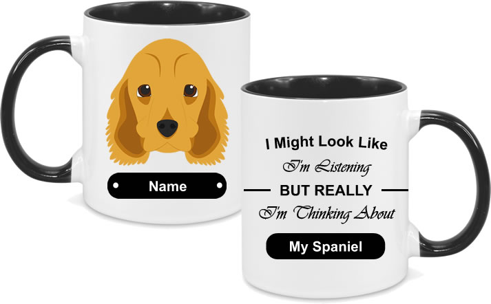 Spaniel Face with text