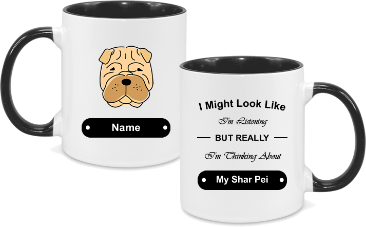 Shar Pei Face Drawn with text