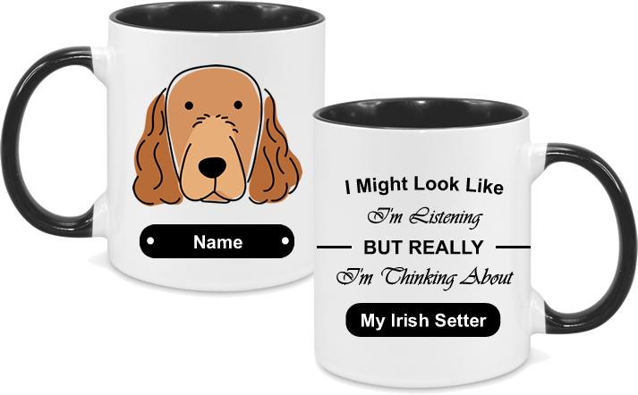 Irish Setter Face drawn with text