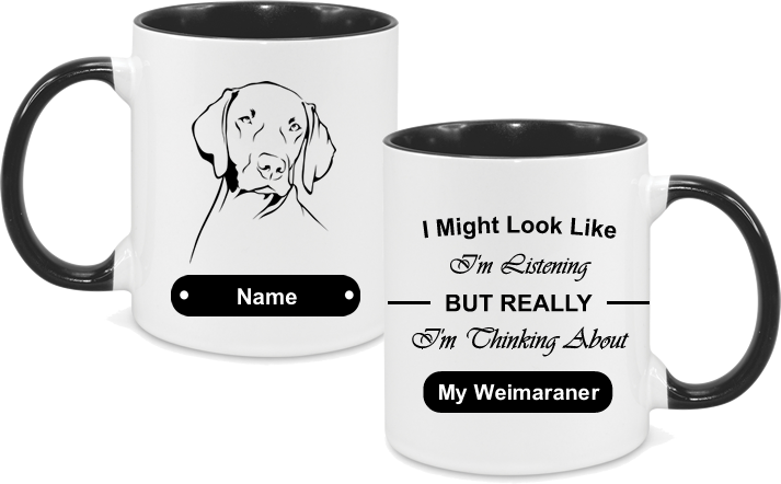 Weimaraner Face with text