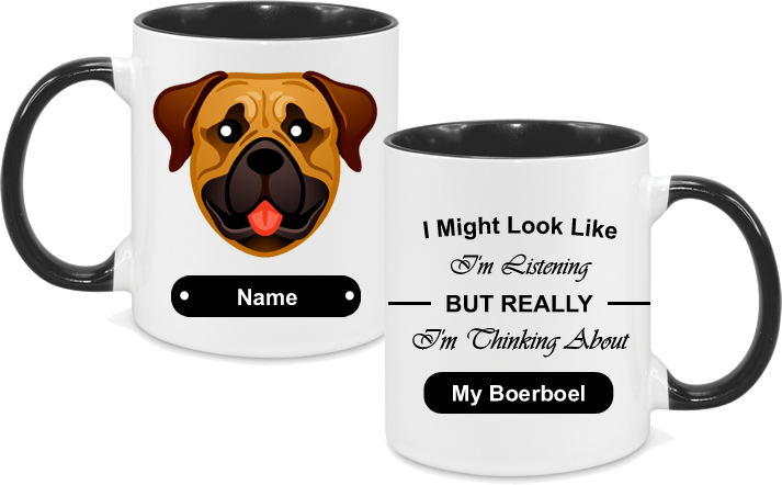 Boerboel Face with text