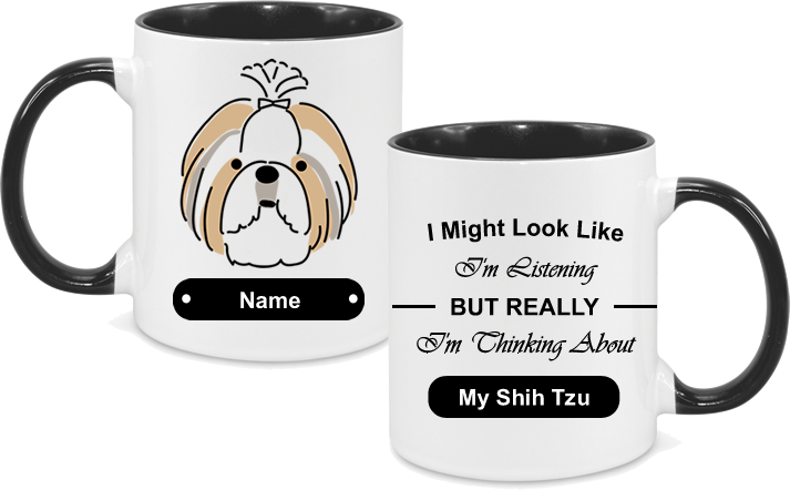 Shih Tzu Face Drawn with text