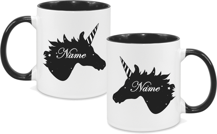 Unicorn Design Black both sides
