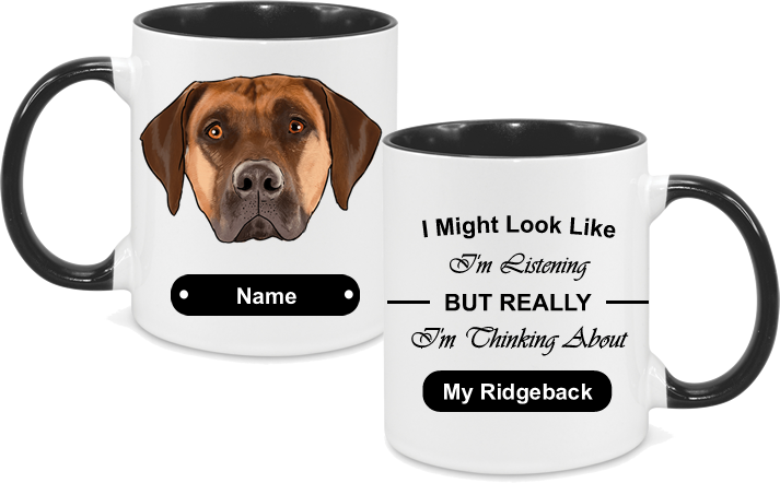 Rhodesian Ridgeback Face with text