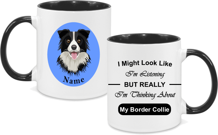 Border Collie With circle background and text