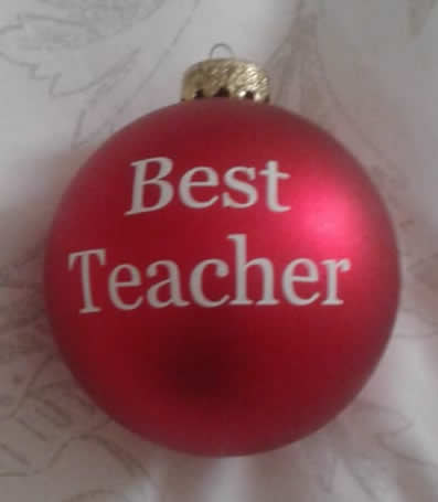 Best Teacher Personalised Bauble