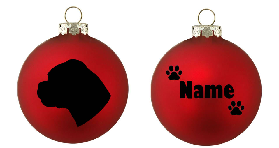 Personalised Boxer Bauble