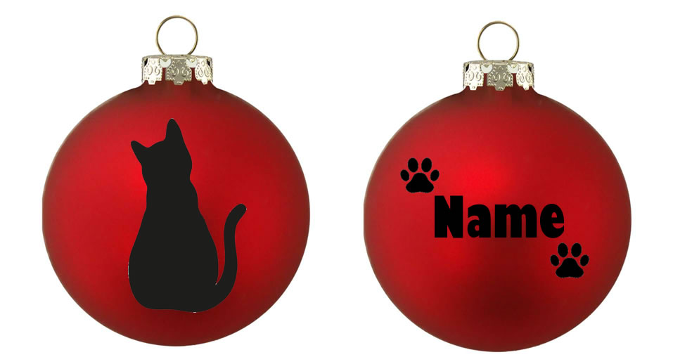 Personalised CAT 1 Bauble