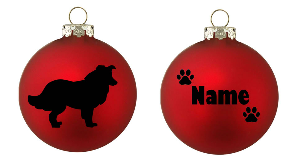 Personalised Border Collie Bauble