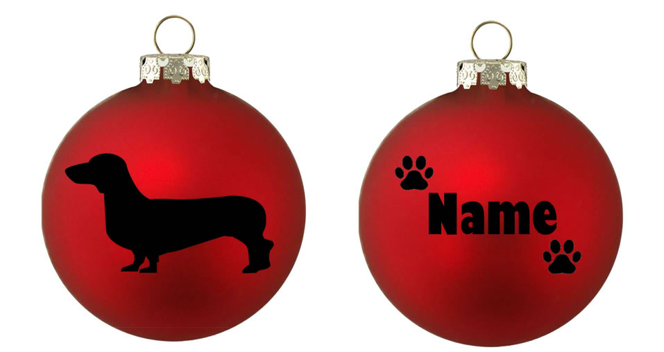 Personalised Dachshund Bauble