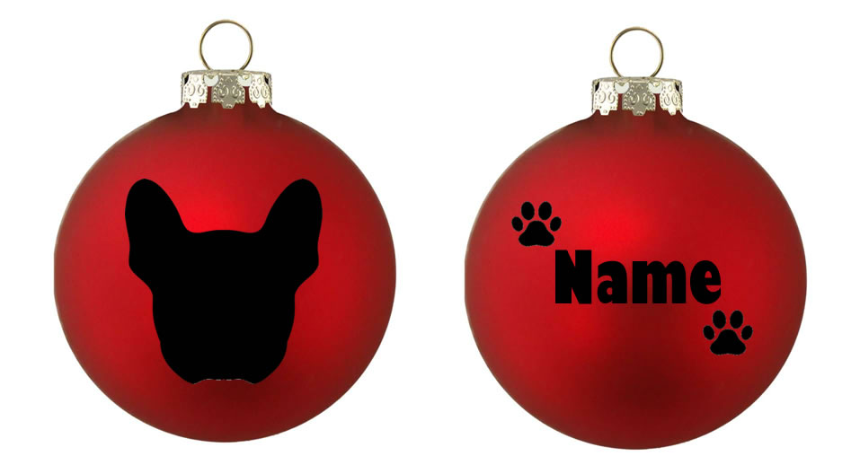 Personalised French Bulldog Bauble