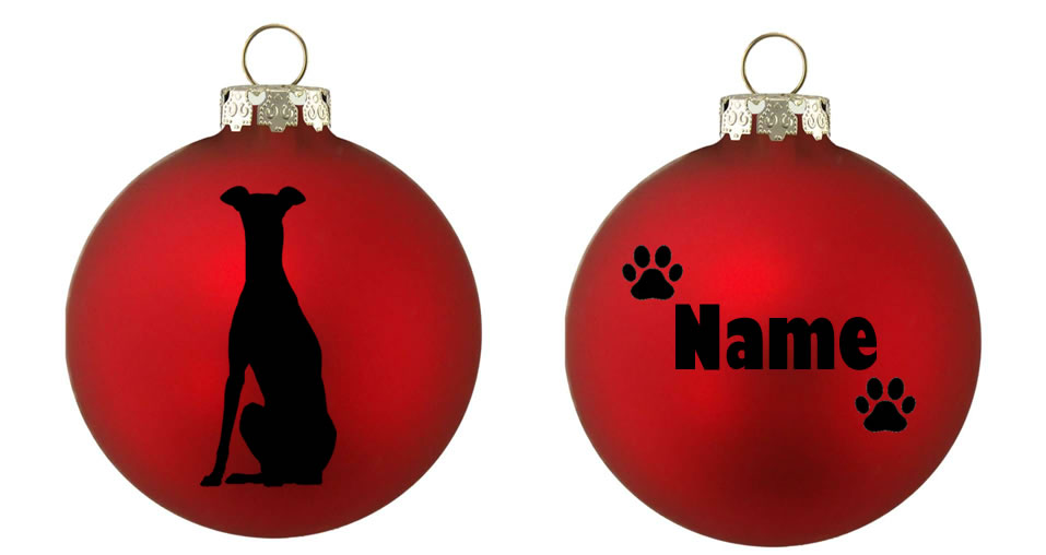 Personalised Greyhound Bauble