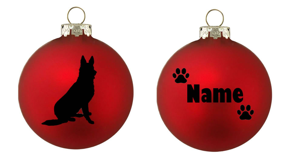 Personalised GSD German Shepherd Bauble