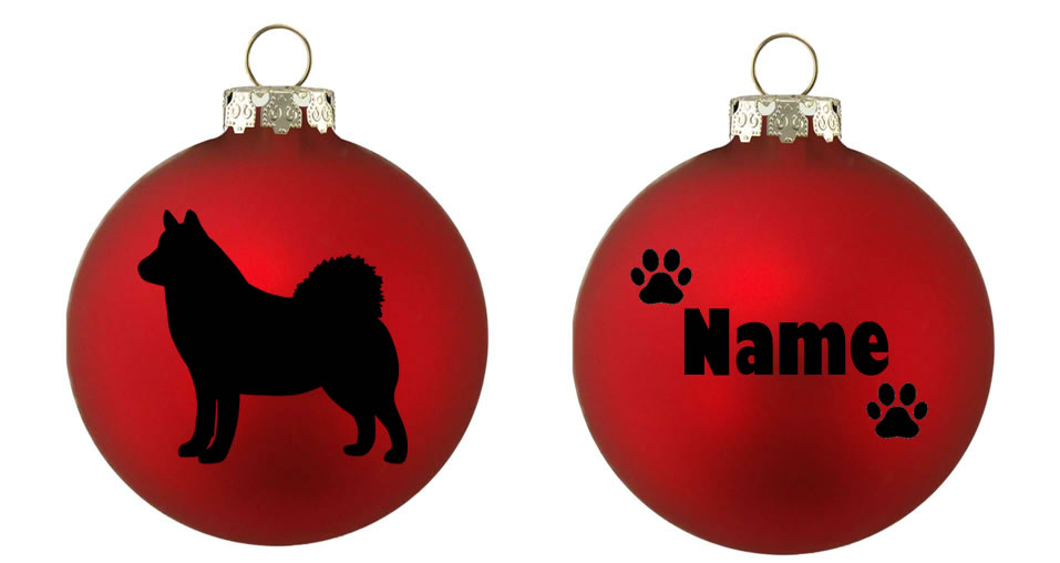 Personalised Husky Bauble