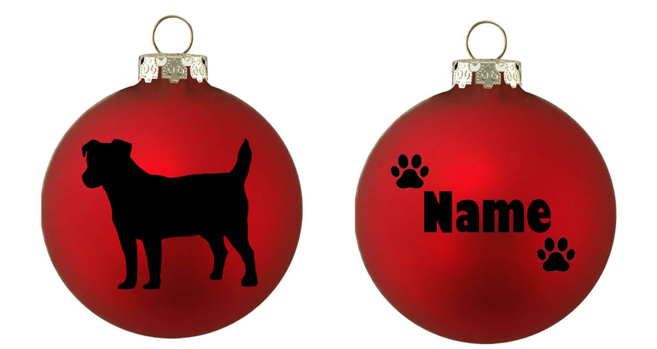 Personalised Jack Russell Bauble