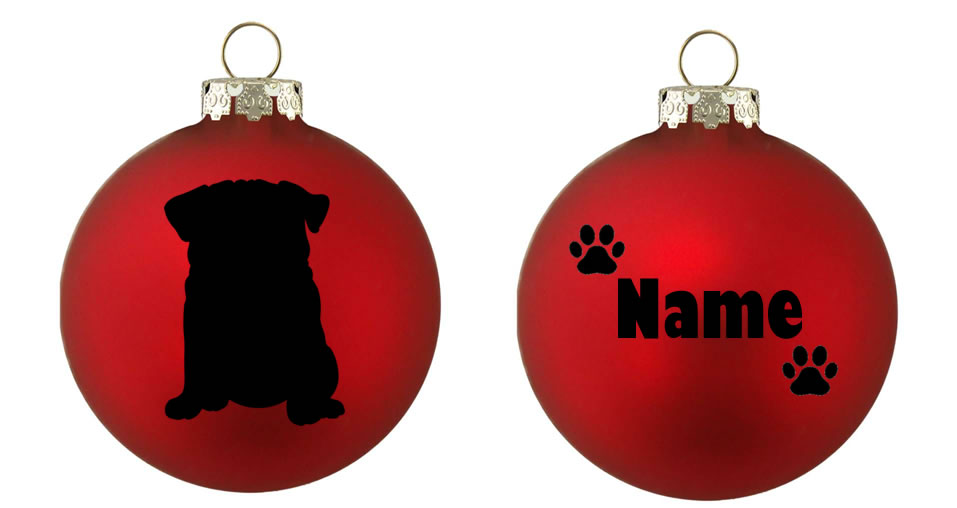 Personalised Pug Bauble