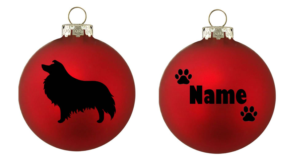 Personalised Rough Collie Bauble