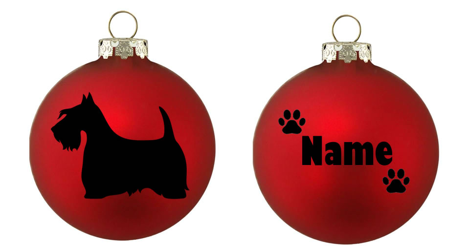 Personalised Scottie Bauble