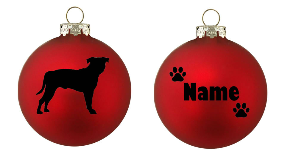 Personalised Staffie Bauble