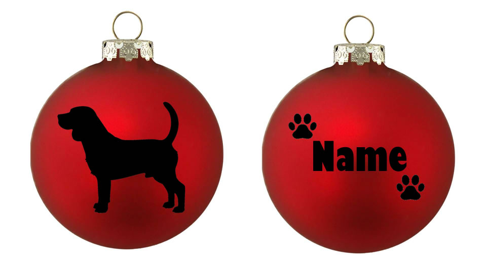 Personalised Beagle Bauble