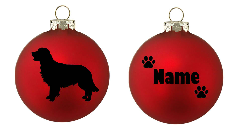 Personalised Golden Retriever 1 Bauble