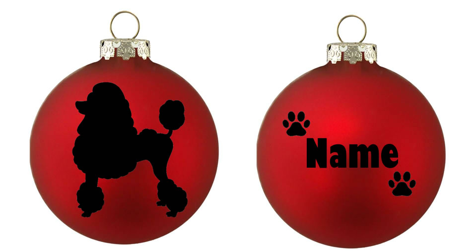 Personalised Miniature Poodle Bauble
