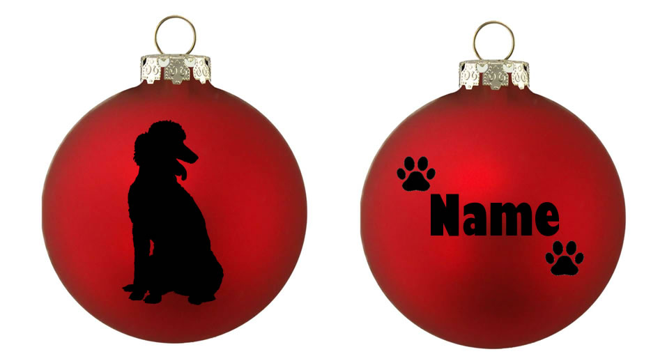 Personalised Standard Poodle Bauble