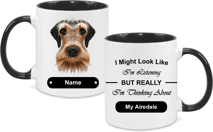 Airedale Face with text