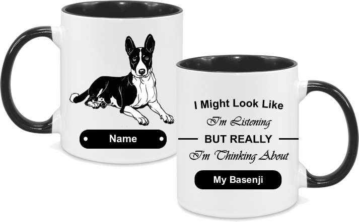 Basenji Face with text