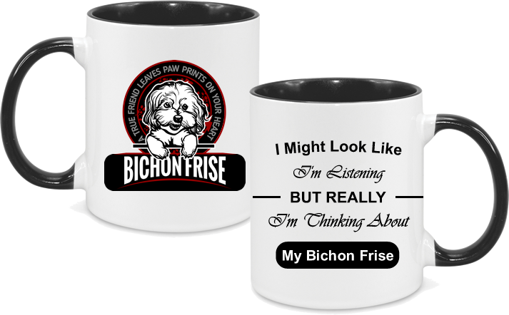Bichon Frise with text