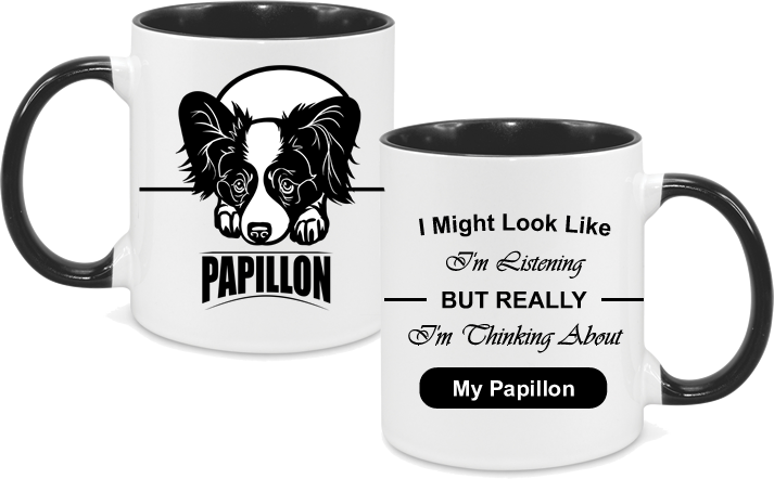 Papillon with text